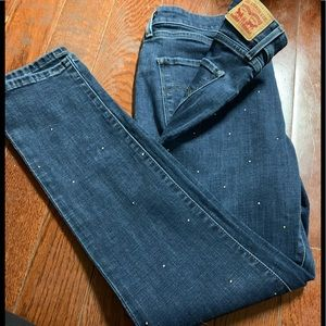 Levi's mid rise skinny jeans size 12 with sequins